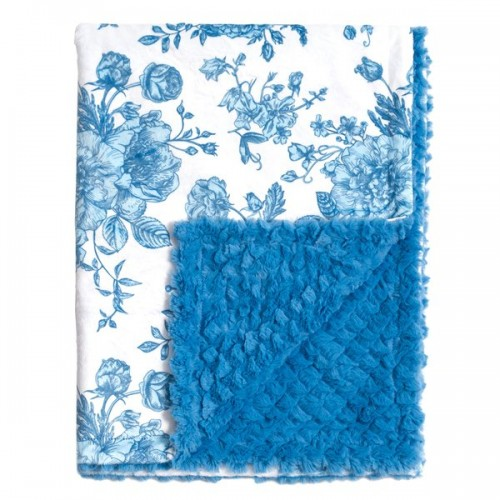 French Blue Floral Blankets