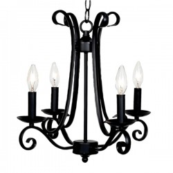 Chandelier Harp 4 Light Black