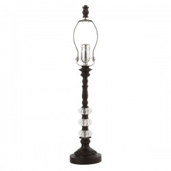 Lamp Base Medium 3 Glass Ball Black