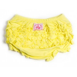 Canary Yellow Ruffle Buns