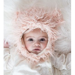 Pink Cat Eskimo Kids Faux Fur Hats