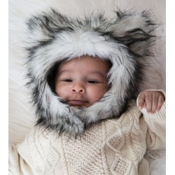 Wolf Eskimo Kids Faux Fur Hats